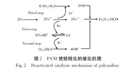 图2 PANI使铁钝化的催化机理